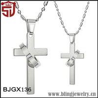 Religious Fashion Jewellery Stainless Steel Cross Necklace for Lovers