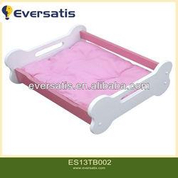 Pink Bone MDF Solid Wood Pet Bed