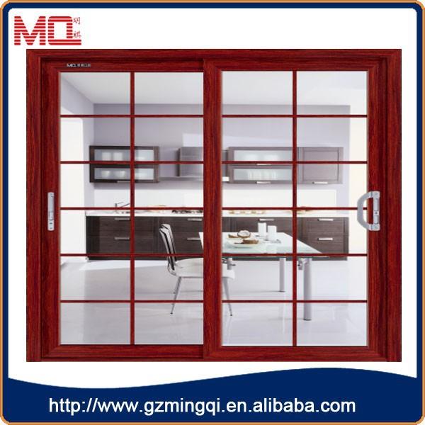 Factory price aluminum alloy kitchen cabinet glass door sliding door view kitchen cabinet - Kitchen sliding door price ...