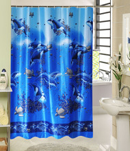 cheap home textil shower curtain 80gsm/ polyester fabric window shower curtain /180x200cm durable textile shower curtain