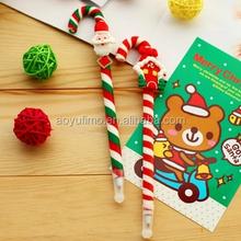 Length 17cm Colorful MINI Xmas Doll Ball Point gift Pen Handicraft Fimo Ball pen School Supplies 20pcs/lot on sale