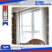 pvc swing opening casement adjustable jalousie window with double glass