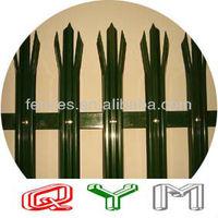 Color PVC Coated Palisade Fence Vender