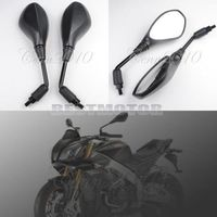 Pair 10mm Motorcycle Black Rear View Mirrors For BMW F650GS F800GS F800 F650 GS 2008-2011 Aprilia Tuono