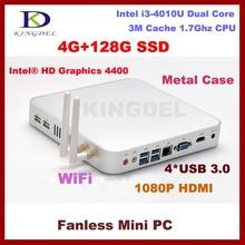 Thin client Small Mini PC i3 4010U dual core 1.8ghz RAM+SSD+HDD, WiFi Window 7/8,Linux Mini Computer