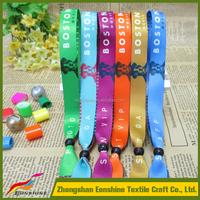 2016 Custom Festival Sublimation Printed Fabric Wristband