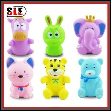 Eye Popping Stress Relax Toy/rubber cute pink pig doll toys/plastic 3D cartoon action figurines toys