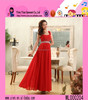Wholesale Sexy Backless Diamante Dress Ladies One Shoulder Elegant Red Dinner Evening Dress