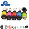 MINI Colorful Keychain USB Rechargeable Flashlight