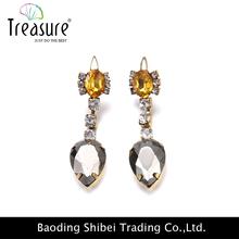 2015 Mixed jewelry Cheap earring stud wholesale lot diamond Rhinestone Earrings With Iron base 12pairs