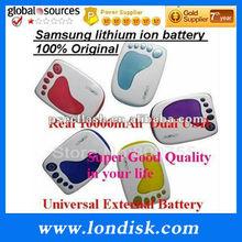 10000mAh Ultra Capacity dual usb Portable Power Bank Charger / Pro lithium polymer battery