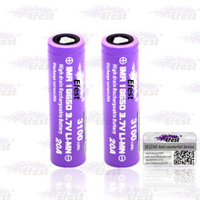 Hot!!! Efest 18650 3100mah battery 20amp 18650 efest purple bttery 20A imr 18650 battery with flat top