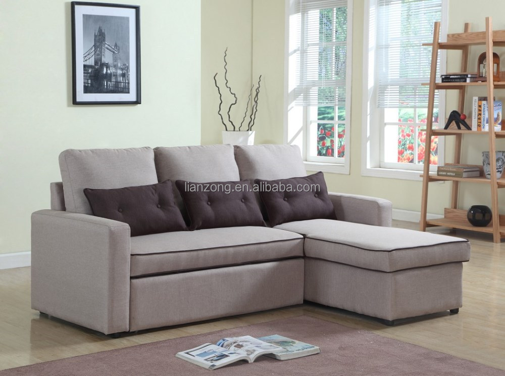 Storage sectional pull out sofa bed lz712f buy pull out for Sectional sofa with pull out bed and storage
