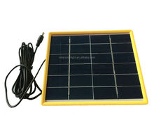high quality mono/poly crystalline mini size 3W 6V solar panel with terminal box and plastic frame