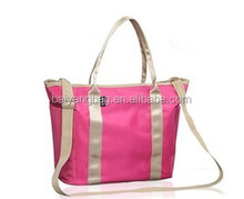 2013 promotional eco-friendly navy canvas handbag &shopping bag for girls