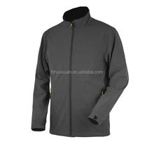 Simple design elegant mens softshell jacket good perpormance waterproof and windproof