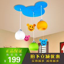 HGhomeart Genuine Kids Room Youyou baby chandelier bedroom lamp study children's creative Mickey LED Lighting free shipping