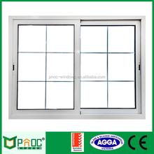China made cheap price of aluminium sliding windows with Australian standard tempered glazing and grill design PNOC000SLW