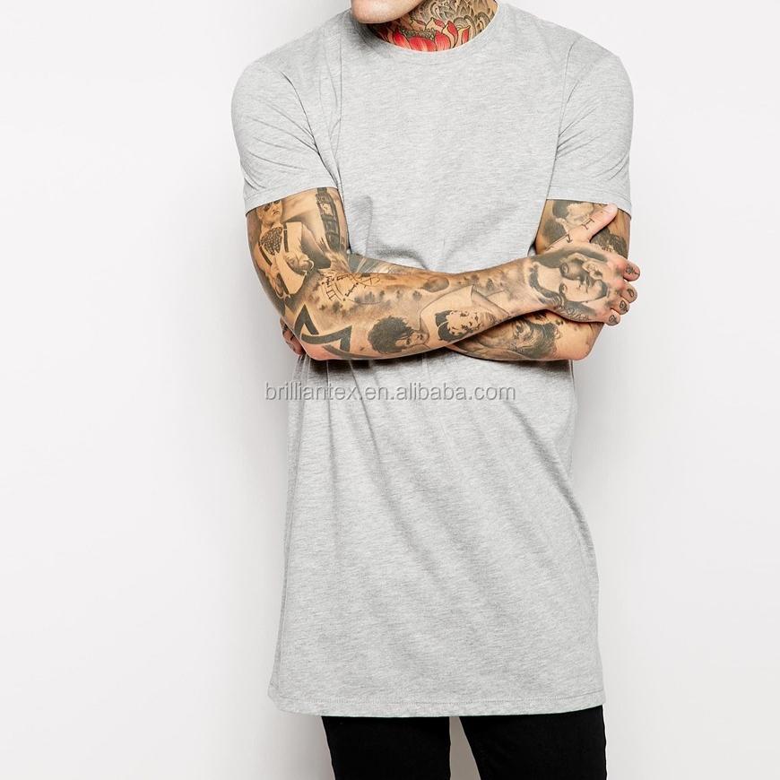 Long oversized t shirt wholesale custom design cotton men for T shirt design wholesale