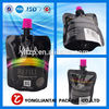 custom plastic wine bag with spout water transfer printing