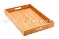 Mejor venta de bambú que sirve la bandeja, bambú bandeja con el mango