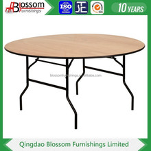 Wooden 6ft hot selling Round Foldable wedding Banquet Table