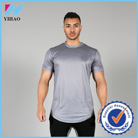Trade Assurance 2015 Yihao Mens Custom Sports Gym Print Clothing Tee shirt Blank