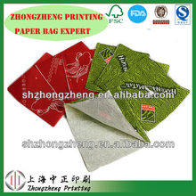 oil proof printed snack food paper bag,two sides opening paper bag,laminated paper bag to prevent oil