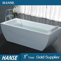 HS-B555 best acrylic simple small freestanding square bathtub