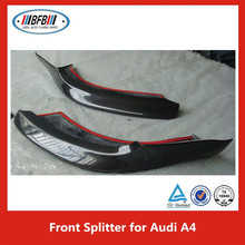 2015 Carbon fiber front spoiler/lip/splitter for AUDI A4