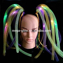 LIGHT UP HAIR NOODLE HEADBANDS - RAINBOW WITH WHITE LEDS