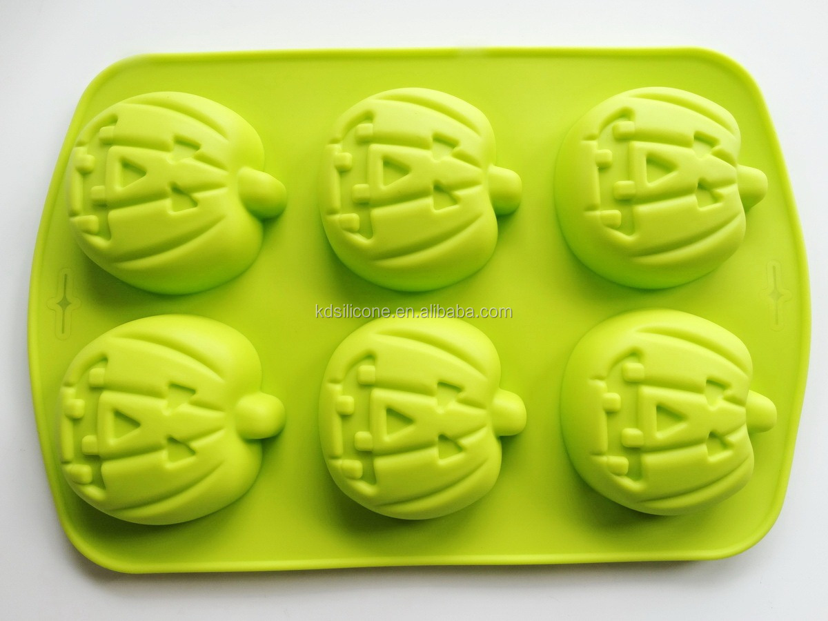 Smiling Non-stick Funny Carnival Halloween Pumpkin Cake Pan Mold,wholesale halloween skeleton skull head cake pop mold