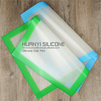 Best seller colored anti slip silicone mat soft & flexible silicone pad perfect to post e cig wax vaporizer pen