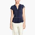 mariposa chefon alforzas manga frente la mujer blusas 2013 nuevos diseños