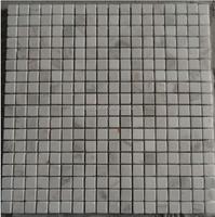 Square shape carrara white mosaic tile for modern kitchen backsplash design