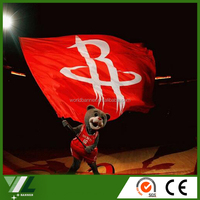 Houston Rockets NBA basketball team flags