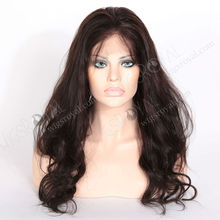 human hair high ponytail full lace wigs for black women