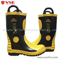 Rubber fire fighting shoes firefighter shoes