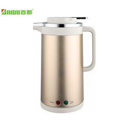 1.5L Spraying Finished Stainless Steel Thermal Insulation Electric with Water Kettle Double Wall Anti-heat Protection