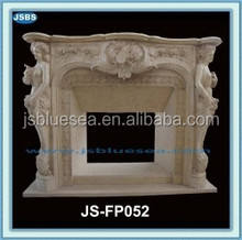 insert decorative indoor fireplace mantle surround marble