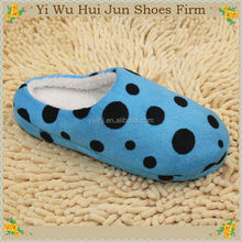 Fashion Hotel Slipper With Embroidery Logo Cotton Fabric Cleaning Mop Slippers