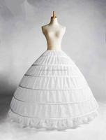 Ball Gown Petticoats Six Hoops One Tiers Dress Underskirt Crinoline Wedding Accessories Petticoats for Wedding Dress B01