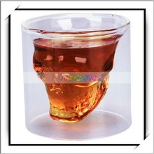 Crystal Skull Head Shot Glass Drinking Ware for Home Bar