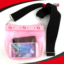 For Mobile Phone PVC Waterproof Bag With Snap Locking Access