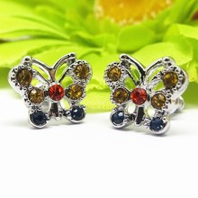 2015 fashion Latest Design Butterfly fancy stud earring