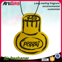 Best promotional items custom hanging auto paper air freshener