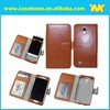 pu leather flip case for samsung galaxy s4 with card slots
