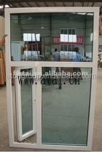 Handle pvc windows,upvc side outside open swing out top fixed windows,fixed panle windows