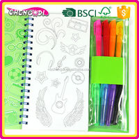 New Creative wood free paper coloring book, kid coloring book, diy coloring book