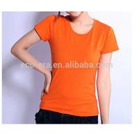 200g 15 Lycra 85 Cotton Ladies Slim Fit , Plain T-shirts , Custom Printed T-shirts , Custom Labels , China Wholesale Clothing